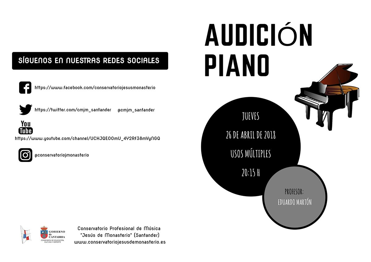 Audición de Piano @ Auditorio