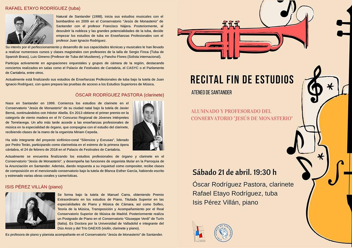 Recital fin de estudios @ Ateneo de Santander | Santander | Cantabria | España