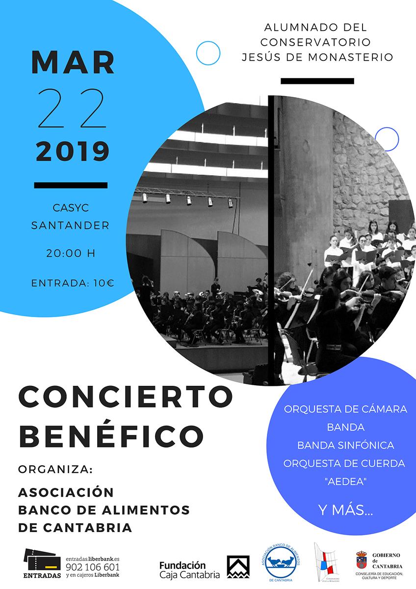 Concierto Solidario Banco de Alimentos de Cantabria @ Sala CASYC